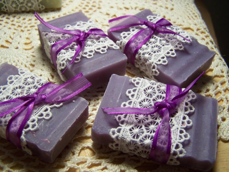 50 Wedding Favors Soaps Mini Soaps Lilac Shea Butter