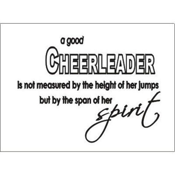 A good cheerleader..spirit Wall art vinyl decals letters love
