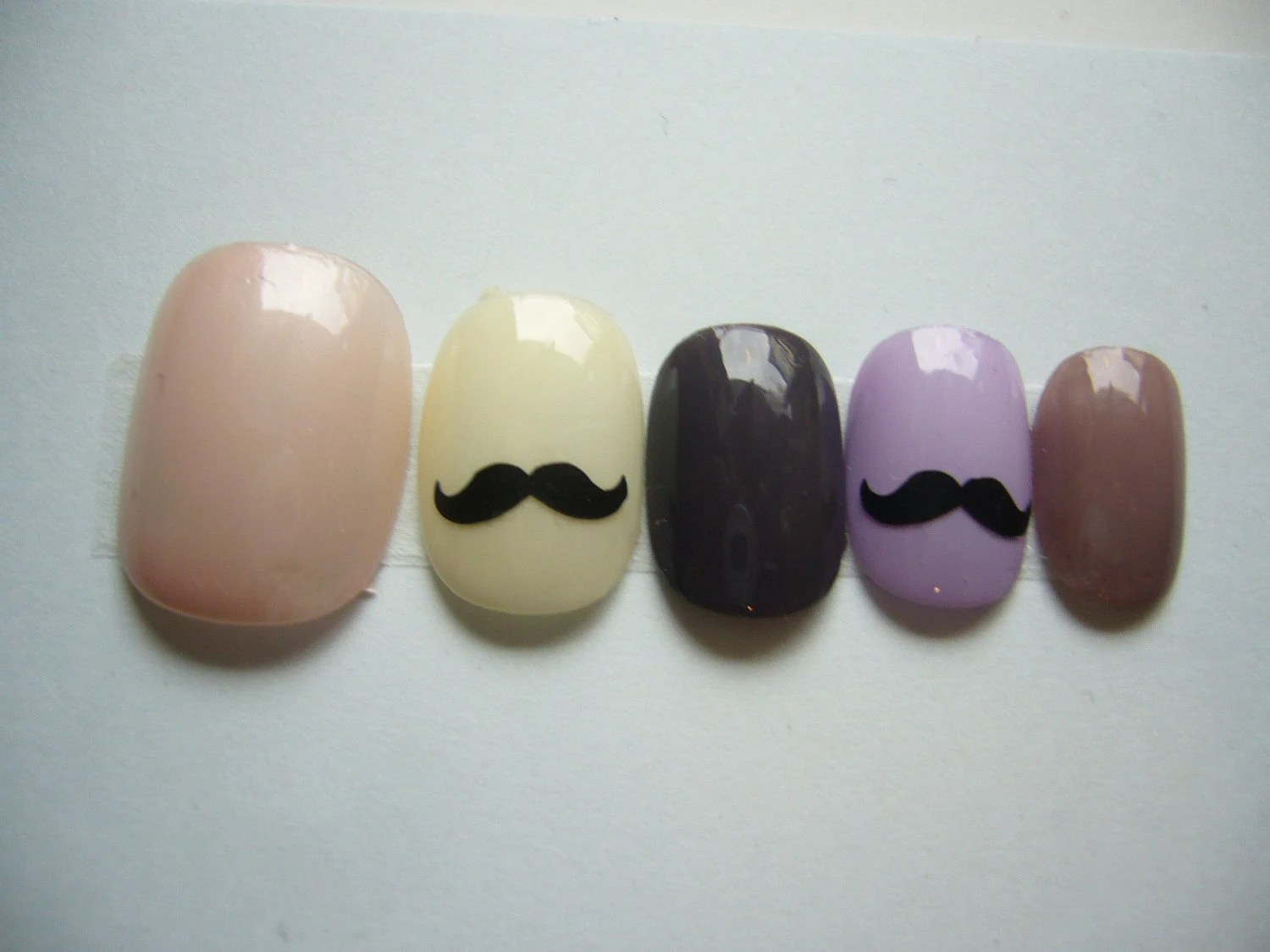 Japanese Kawaii Petit False Nail Girlie Mustache