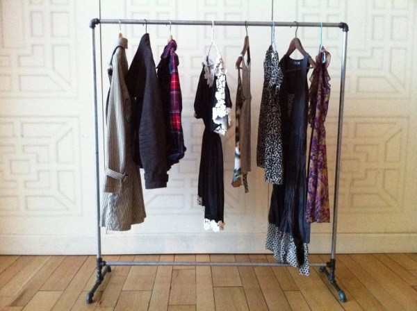 Galvanized Pipe Clothes Rack