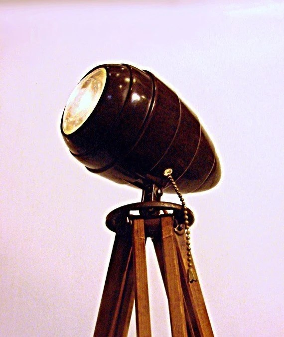 Industrial Lighting Tripod Floor Lamp Spotlight with by