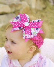 hair bow baby.boutique ribbon