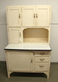 Vintage White Hoosier Kitchen Cabinet Cupboard-RESERVED FOR