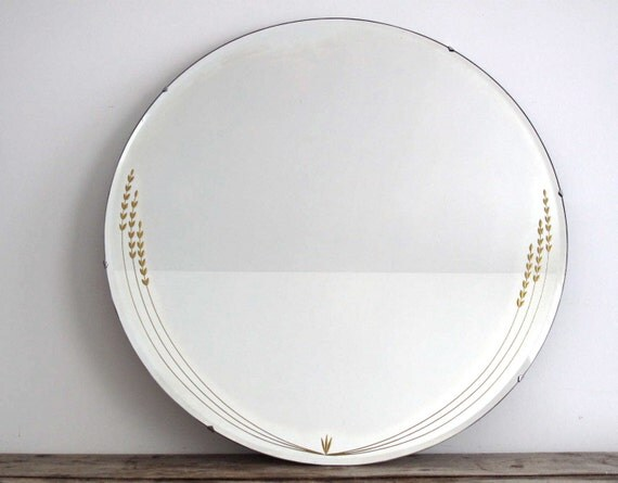 Vintage Wall Mirror Round Mirror With Beveled By