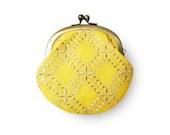 Lemon Sherbet Yellow Coin Purse - humoresque