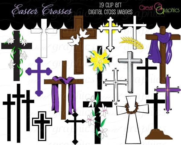 cross clip art digital