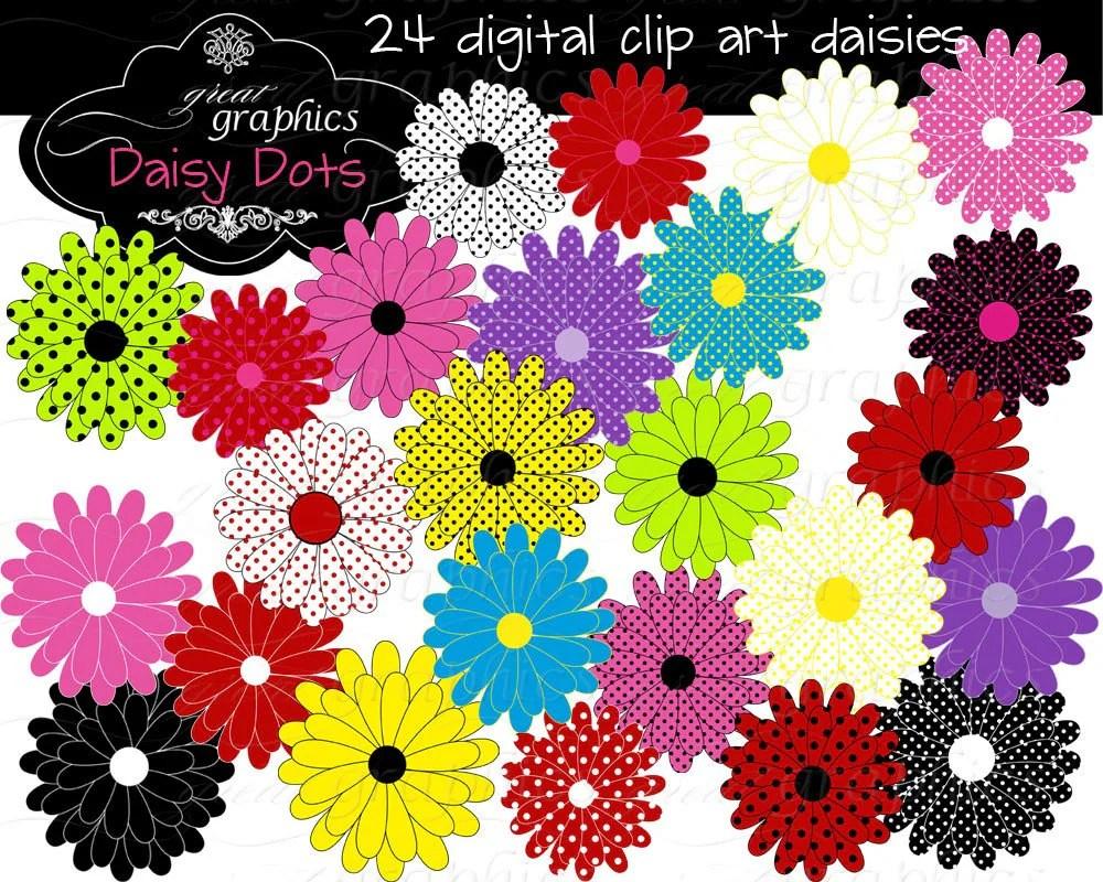 Flower Digital Clip Art Flower Clipart Printable Daisy Clipart