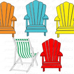 Adirondack Chair Cake Topper Dining Styles Beach Clip Art Digital Clipart Party Printable Invitation ...