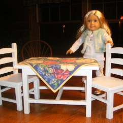 18 Doll Table And Chairs Swivel Chair Cushion Covers Set For Inch