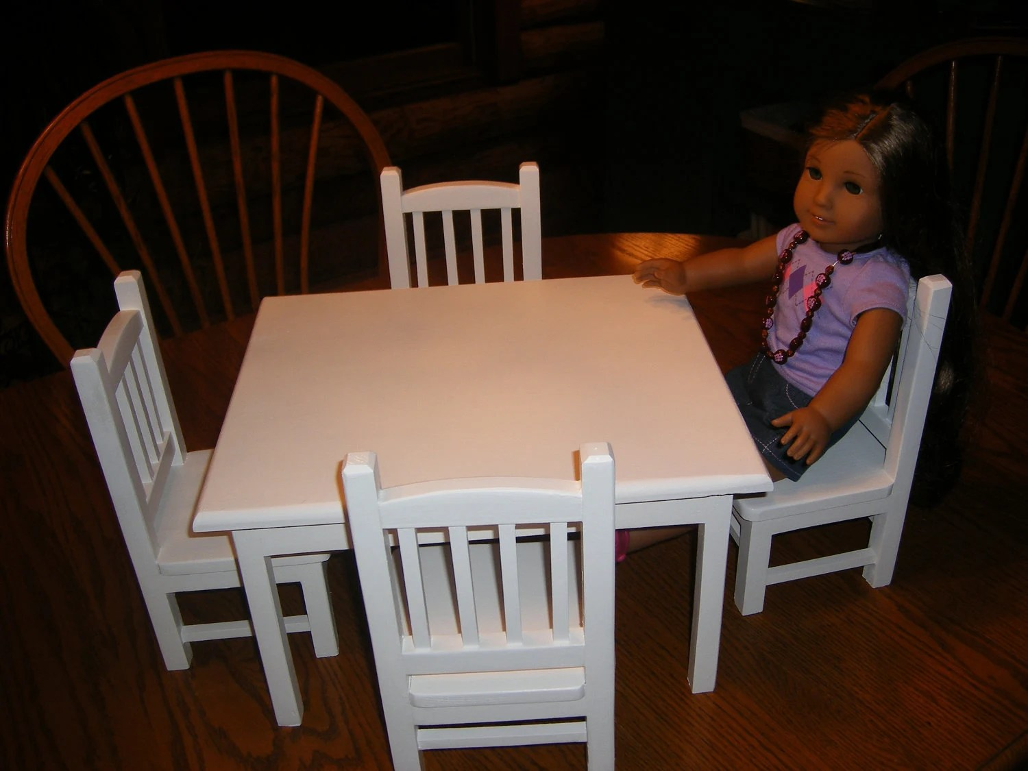 18 doll table and chairs wing chair slipcovers with 4 set for inch by lanning83 on etsy