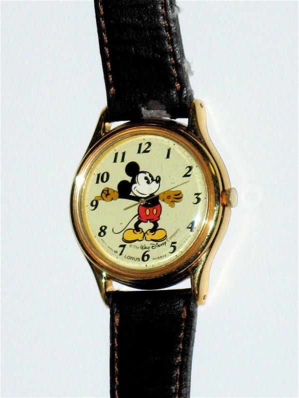1980s Mickey Mouse Lorus Quartz Watch V515 6118