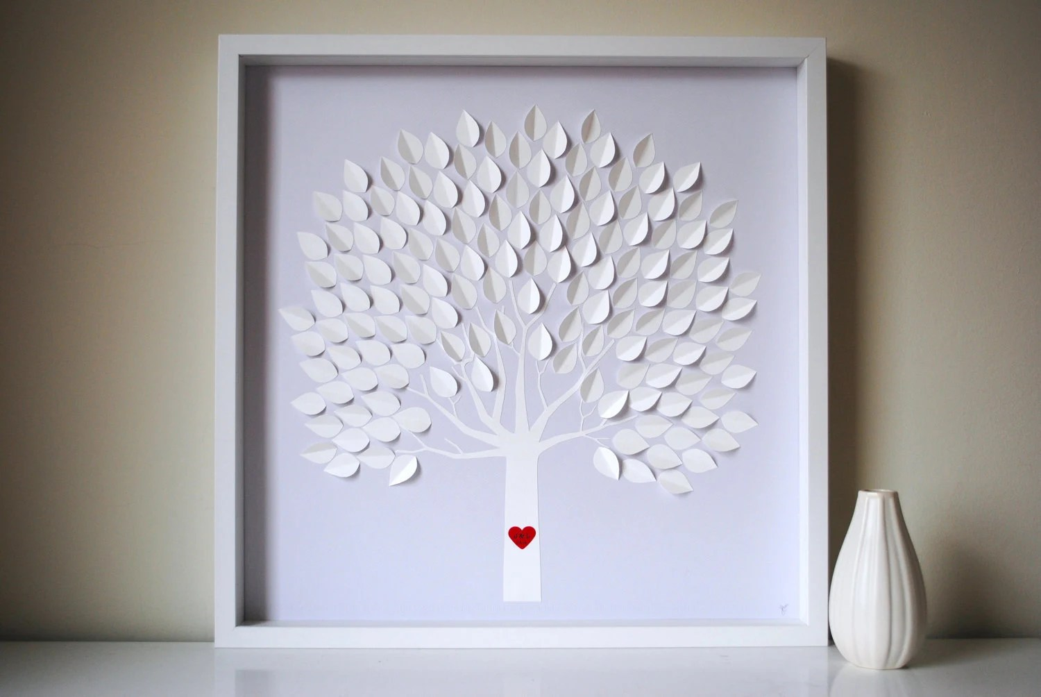 Wedding Guest Book Alternative 3D Wedding Tree Personalized