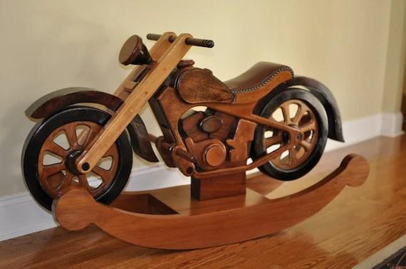 Rocker Wooden Motorcycle
