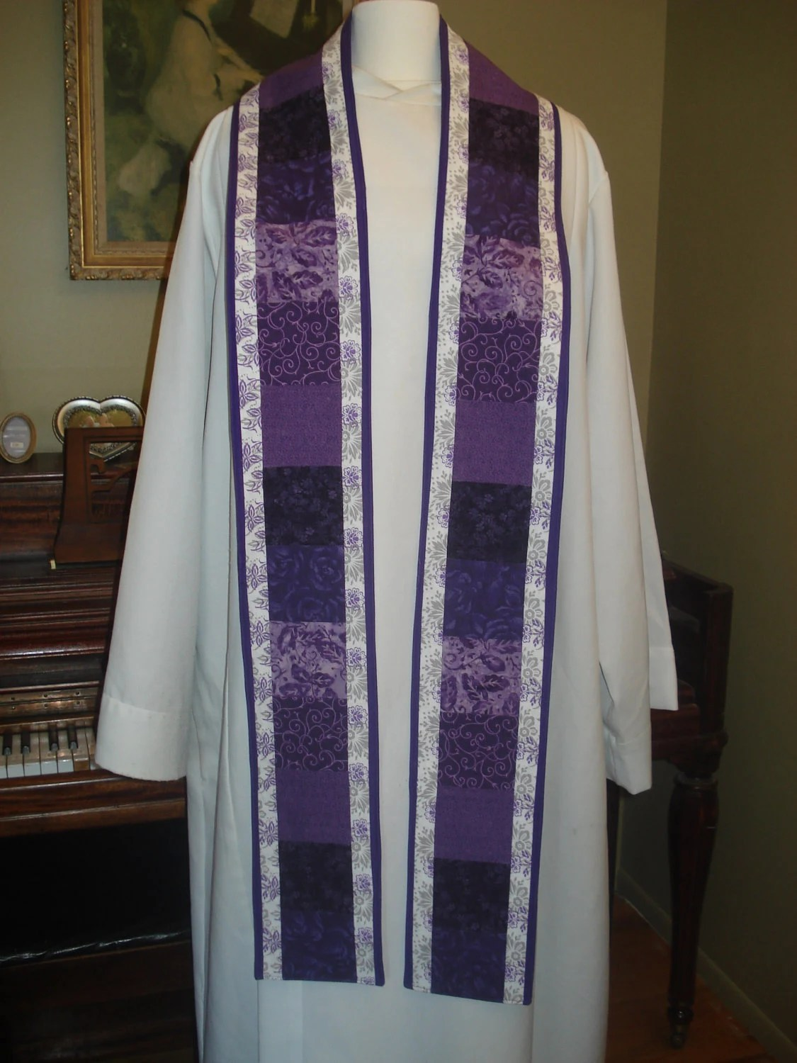 Items similar to Trimmed Squares Clergy Stole on Etsy