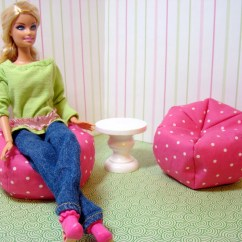 Barbie Bean Bag Chair Diy Hammock Swing Furniture Chairs And Table By