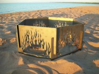 """Fire Pit And Bbq Grill. Fire Ring With Tripod 19"""" Cooking ..."""
