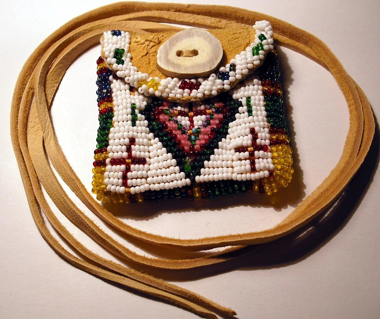 Beaded Native American Indian Medicine Bag