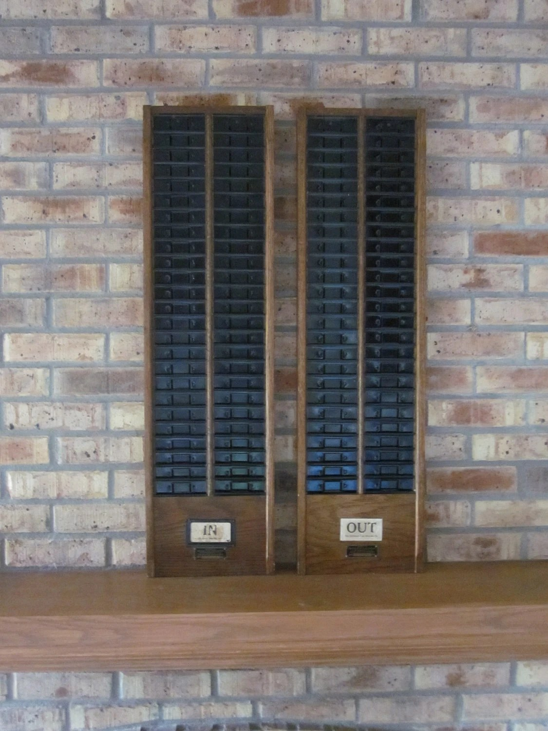 Time Clock Card Rack Antique Military Industrial Chic