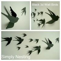 3d Paper Wall Birds 3d Wall Art Nursery Wall by ...