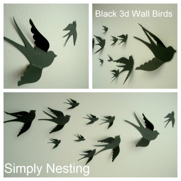 3d Paper Wall Birds Art Nursery