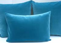 Turquoise pillow lumbar pillow cover velvet by ...