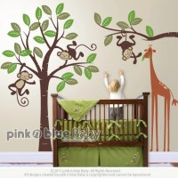Items similar to Wall Decals, Monkeys and giraffe ...