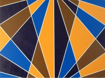 Art Deco Painting Intersect Abstract Geometric Modern