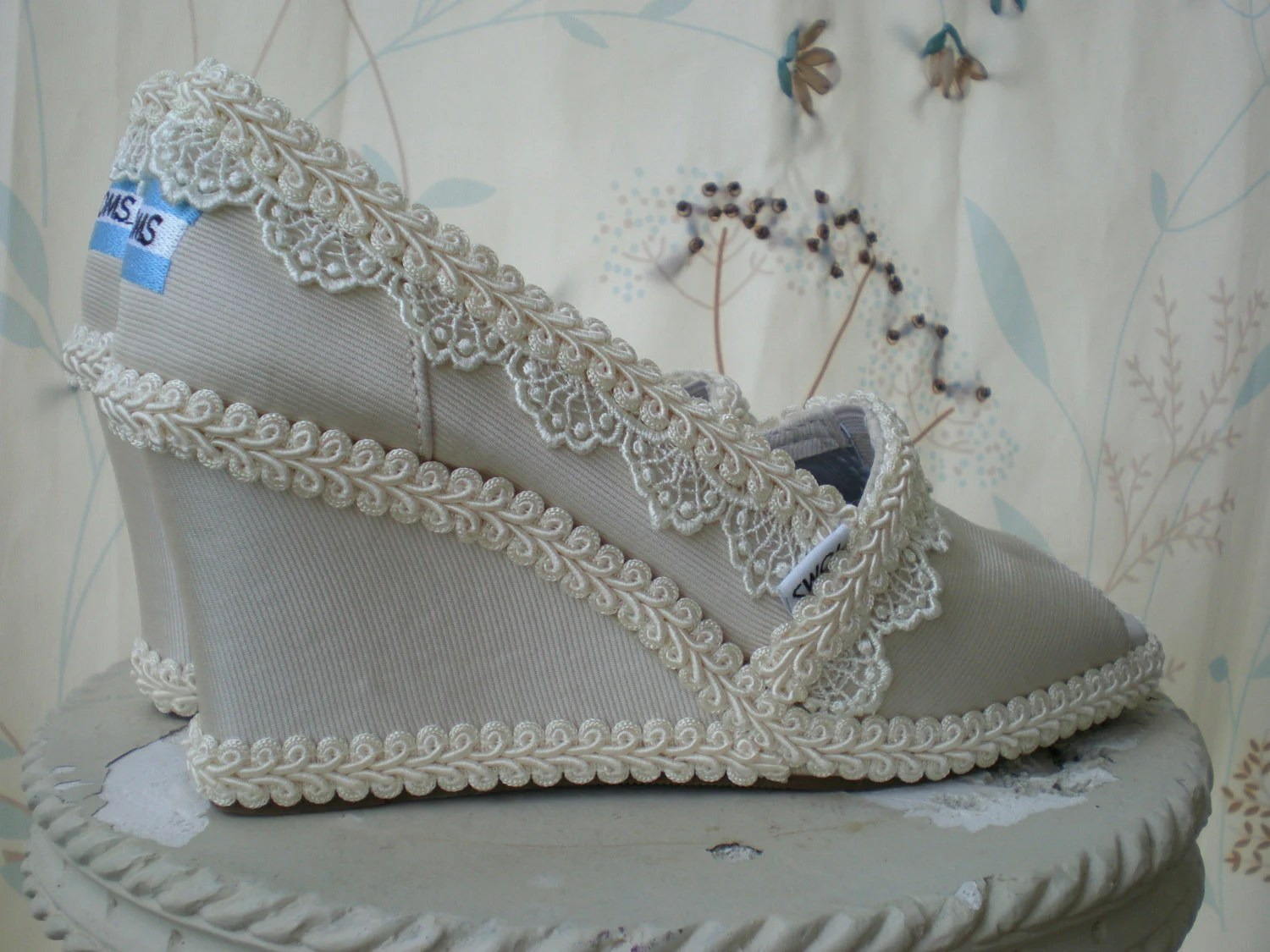 Custom Wedding TOMS..... Wedge design
