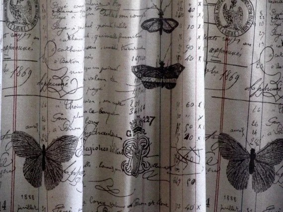 CURTAIN In French Script 72x72