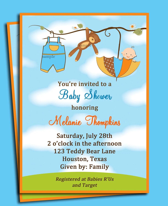 Baby Shower Invitations Boys