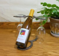 Horseshoe Wine Bottle Holder Horseshoe Wine Rack Western