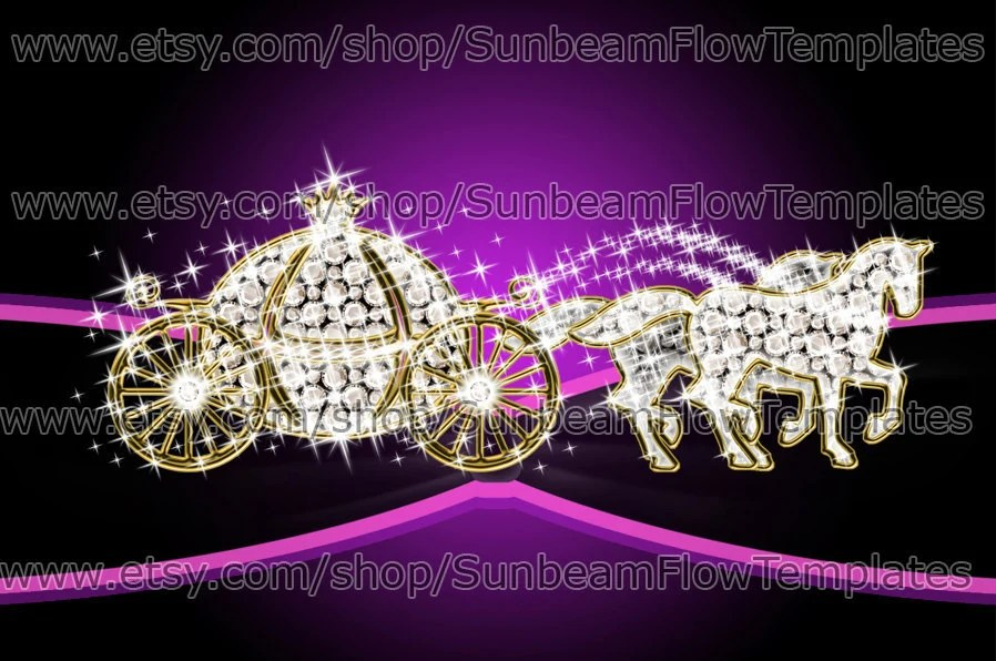 INSTANT DOWNLOAD Cinderella wedding carriage 01 clip art PNG