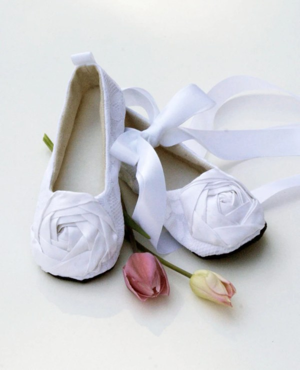 White Toddler Flower Girl Shoe Silver Black Babysouls