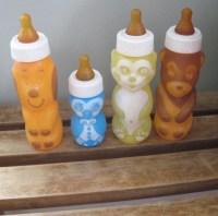 Vintage GERBER Fun Plastic Animal Bottles Lot