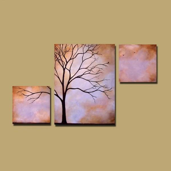 Abstract Tree Painting Custom Earthy Wall Art Large