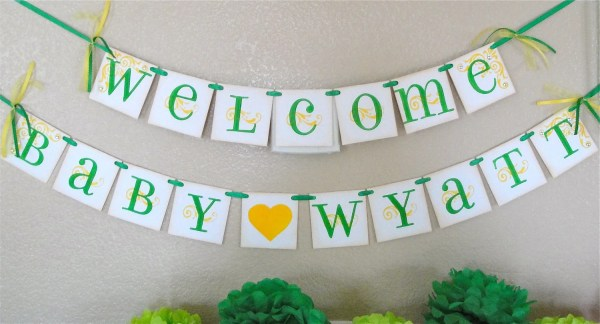 Baby Shower Banner Custom With