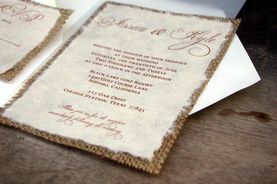 Rustic Wedding Invitations Simple