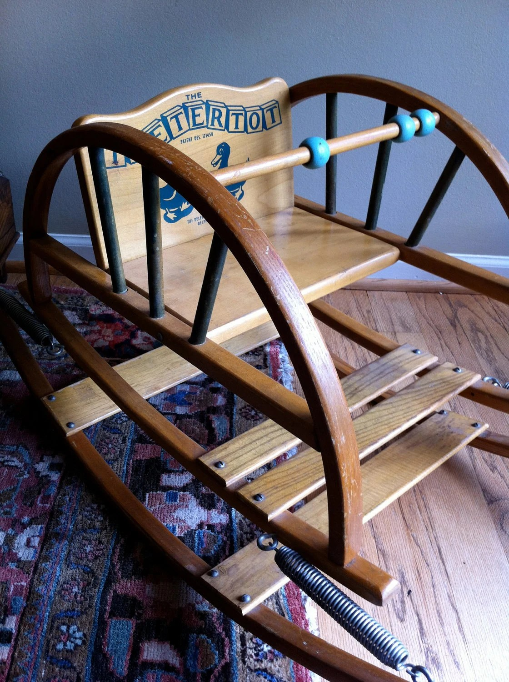 Teeter Totter Teetertot Baby Chair Vintage Wooden by