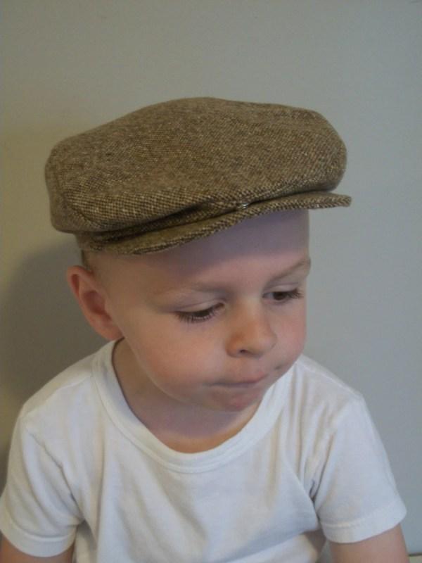 Boys Scally Cap Brown Tweed