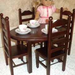 18 Doll Table And Chairs Beach Chair With Shade Cover Historical Oval 4 Set American Girl Or