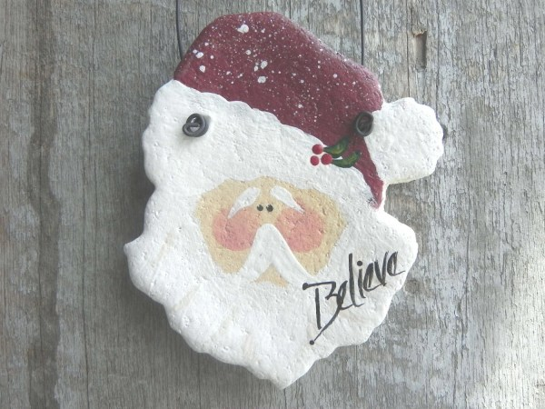 Christmas Salt Dough Santa Ornament