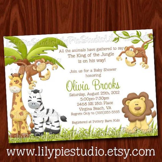 Baby Shower Invitations King Jungle