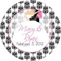 Bridal shower 3 or 2 inch favor tags 3 to choose by pretty party