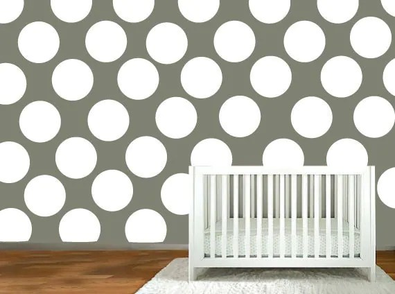 nursery wall decal Polka Dot stickers wall by ModernWallDecal