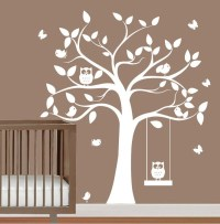 babies nursery tree wall decal tree silhouette by ...