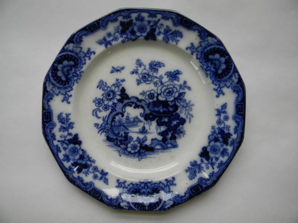 Flow Blue Antique Thomas Fell Plate Japan Pattern