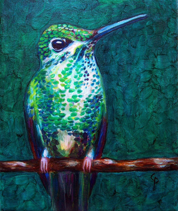 Hummingbird Painting Canvas