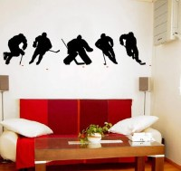 ICE HOCKEY PLAYERS Vinyl Wall Art Decal 2 Colors