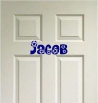 SOCCER Custom Name Door Decor Vinyl Wall Quote Decal