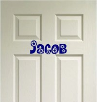 SOCCER Custom Name Door Decor Vinyl Wall Quote Decal